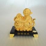 K064M 150x150 Khỉ tài lộc ôm túi vàng K064M