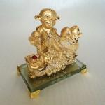 K081M 1 150x150 Khỉ tài lộc kéo túi vàng K081M