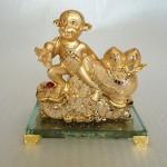 K081M 150x150 Khỉ tài lộc kéo túi vàng K081M