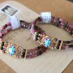 S6279.1 150x150 Chuỗi đá hồng lục bảo hợp kim hoa sen xanh S6279