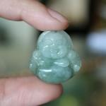 s6327 150x150 Phật Di Lạc ngọc Phỉ Thúy xanh đậm nhỏ S6327