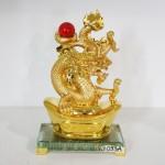 g093a rong vang chau do 2 150x150 Rồng vàng phun châu trên kim bảo lớn G093A