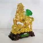 g106a ngua cong bap cai 1 150x150 Ngựa vàng cõng bắp cải gàu vàng trên túi vàng G106A