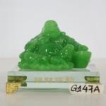 g147a di lac xanh chieu tai tich lac 2 150x150 Phật di lạc xanh tay vịn vàng G147A