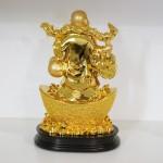 g148a di lac vang lon 2 150x150 Phật di lạc như ý đứng trên kim bảo lớn G148A