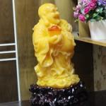 c128a phat di lac vang cam 1 150x150 Phật di lạc ngọc vàng cam đứng khủng C128A
