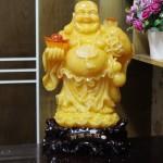 c128a phat di lac vang cam 150x150 Phật di lạc ngọc vàng cam đứng khủng C128A