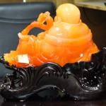 c129a phat di lac cam 2 150x150 Phật di lạc ngọc vàng cam ngồi khủng có như ý C129A