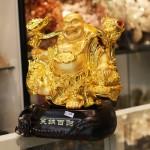 c133a di lac quay ganh 2 150x150 Phật di lạc vàng gánh cây như ý C133A