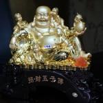c134a di lac vang 150x150 Phật di lạc vàng ngồi ôm 5 đồng tử C134A