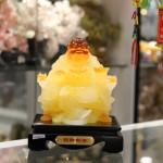 c135a phat luu ly 150x150 Phật di lạc vàng cam ngồi ngai vàng C135A