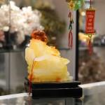 c135a phat luu ly 2 150x150 Phật di lạc vàng cam ngồi ngai vàng C135A