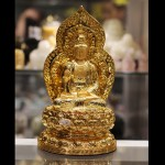 c137a phat quan am 150x150 Phật quan âm vàng ngồi trên đế sen C137A
