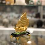 c190a thuyen cho vang nho 1 150x150 Thuyền buồn vàng bạch kim đế thuỷ tinh nhỏ C190A