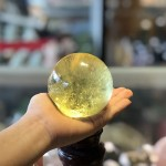Quả cầu thạch anh vàng xịn (658 Gram) GM194 S5 13838