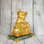 ln034 heo vang bon tu bao 1.jpg 150x150 Vua heo vàng ôm hũ vàng trên đế thủy tinh LN034