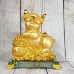 ln034 heo vang bon tu bao 2.jpg 150x150 Vua heo vàng ôm hũ vàng trên đế thủy tinh LN034