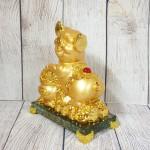 ln034 heo vang bon tu bao.jpg 150x150 Vua heo vàng ôm hũ vàng trên đế thủy tinh LN034