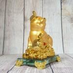 ln035 heo vang nhu y 1.jpg 150x150 Vua heo vàng chân gác như ý  trên đống vàng đế thuỷ tinh LN035