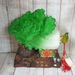 ln067 bap cai khung de tui tien 1.jpg 150x150 Bắp cải xanh khủng cuốn lưu ly trên đế gỗ túi tiền LN067