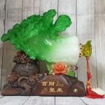 ln067 bap cai khung de tui tien 2.jpg 150x150 Bắp cải xanh khủng cuốn lưu ly trên đế gỗ túi tiền LN067