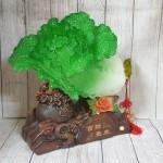 ln067 bap cai khung de tui tien.jpg 150x150 Bắp cải xanh khủng cuốn lưu ly trên đế gỗ túi tiền LN067