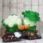 ln070 bap cai su lo lon 1.jpg 150x150 Bắp cải và hoa cải xanh trên bụi mẫu đơn lưu ly đế gỗ lớn LN070