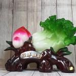ln073 bap cai dao tien 2.jpg 150x150 Bắp cải xanh lớn bên đào tiên đỏ đế gỗ LN073