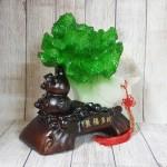 ln076 bap cai cuon nhu y 1.jpg 150x150 Bắp cải xanh lớn uốn như ý trên hồ lô gỗ LN076