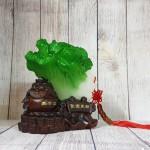 ln080 bap cai 1.jpg 150x150 Bắp cải xanh có xâu tiền trên hũ nguyên bảo đế gỗ LN080