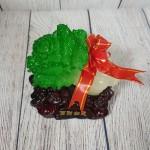 ln084 bap cai de go nho 1.jpg 150x150 Băp cải xanh ngọc nhỏ trên đế gỗ linh chi và nguyên bảo  LN084