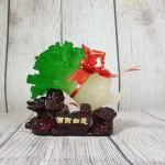 ln084 bap cai de go nho 2.jpg 150x150 Băp cải xanh ngọc nhỏ trên đế gỗ linh chi và nguyên bảo  LN084