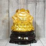 ln090 thiem thu tui vang 2.jpg 150x150 Thiềm thừ vàng trên túi vàng lớn đế gỗ xoay LN090