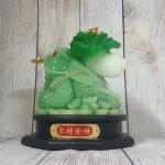ln097 coc cong bap cai.jpg 150x150 Thiềm thừ xanh ngọc cõng bắp cải xanh nguyên bảo trên đế gỗ xoay LN097