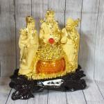 ln112 tam da sa kim vang 1.jpg 150x150 Tam đa phước lộc thọ vàng kim sa bên hũ vàng lưu ly lớn LN112