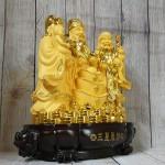 ln113 tam da sa kim vang lon 1.jpg 150x150 Tam đa phước lộc thọ vàng kim sa bên tháp nén vàng lớn LN113