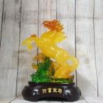 ln126 than ngua luu ly vang 2.jpg 150x150 Thần ngựa cam vàng lưu ly trên trúc ngọc xanh đế gỗ LN126