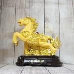 ln127 vua ngua kim sa.jpg 150x150 Vua ngựa kim sa vàng bóng trên đá vàng đế gỗ LN127
