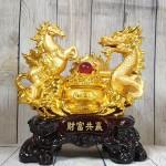 ln129 long ma vang 2.jpg 150x150 Song đế ngựa rồng vàng bên bồn tụ bảo vàng hồng ngọc đế gỗ lớn LN129
