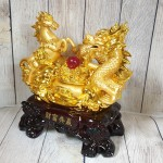 ln129 long ma vang.jpg 150x150 Song đế ngựa rồng vàng bên bồn tụ bảo vàng hồng ngọc đế gỗ lớn LN129