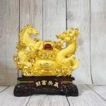 ln130 long ma kim sa 2.jpg 150x150 Song đế ngựa rồng kim sa vàng bên bồn tụ bảo vàng hồng ngọc đế gỗ LN130