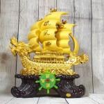 ln139 thuyen buom dau rong sa kim 2.jpg 150x150 Thuyền buồm đầu rồng vàng kim sa bóng lướt sóng vàng bánh lái xanh ngọc LN139