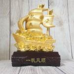 ln144 thuyen buom vang 2.jpg 150x150 Thuyền buồm vàng bóng chở kim nguyên bảo lướt sóng vàng đế gỗ LN144