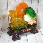 ln161 long quy luu keo bap cai 1.jpg 150x150 Thần rùa đầu rồng vàng lưu ly kéo bắp cải xanh trăng cam trên hồ sen hồng LN161
