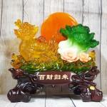 ln161 long quy luu keo bap cai 2.jpg 150x150 Thần rùa đầu rồng vàng lưu ly kéo bắp cải xanh trăng cam trên hồ sen hồng LN161