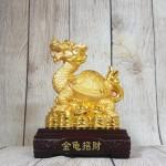 ln163 long quy nha kim nguyen bao 2.jpg 150x150 Thần rùa đầu rồng vàng bóng mai cõng bát quái trên đống tiền vàng đế gỗ LN163
