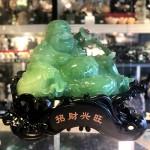 ln185 phat di lac xanh 3.jpg 150x150 Phật di lạc xanh ngọc tay cầm như ý hoàng châu và túi tiền tài đế gỗ khủng LN185