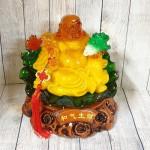 ln186 phat di lac luu ly 1.jpg 150x150 Phật di lạc cam vàng ngọc lưu ly tay cầm như ý bắp cải trên đế lá sen xanh ngọc khủng LN186