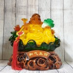 ln186 phat di lac luu ly 2.jpg 150x150 Phật di lạc cam vàng ngọc lưu ly tay cầm như ý bắp cải trên đế lá sen xanh ngọc khủng LN186