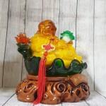 ln186 phat di lac luu ly.jpg 150x150 Phật di lạc cam vàng ngọc lưu ly tay cầm như ý bắp cải trên đế lá sen xanh ngọc khủng LN186